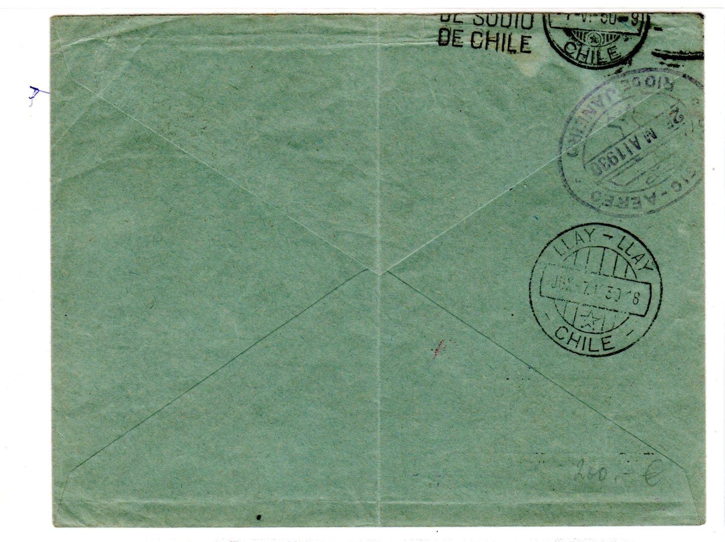 Briefe Nach Chile : Firmenumschlag zur zeppelinfahrt nach chile