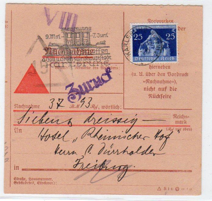 Briefe Mit Nachnahme : Nachnahme karte mit ef mi nr · philatelie heinemann