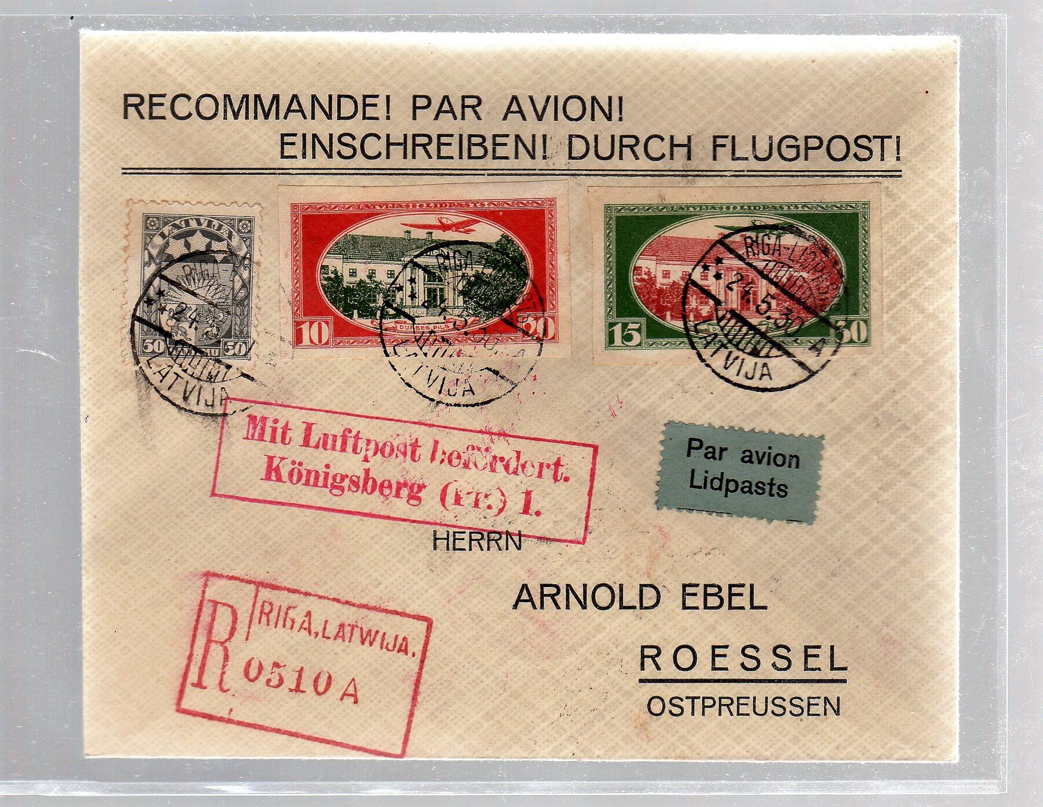 Briefe Mit Luftpost : Einschreib luftpost brief vom ersttag mit b