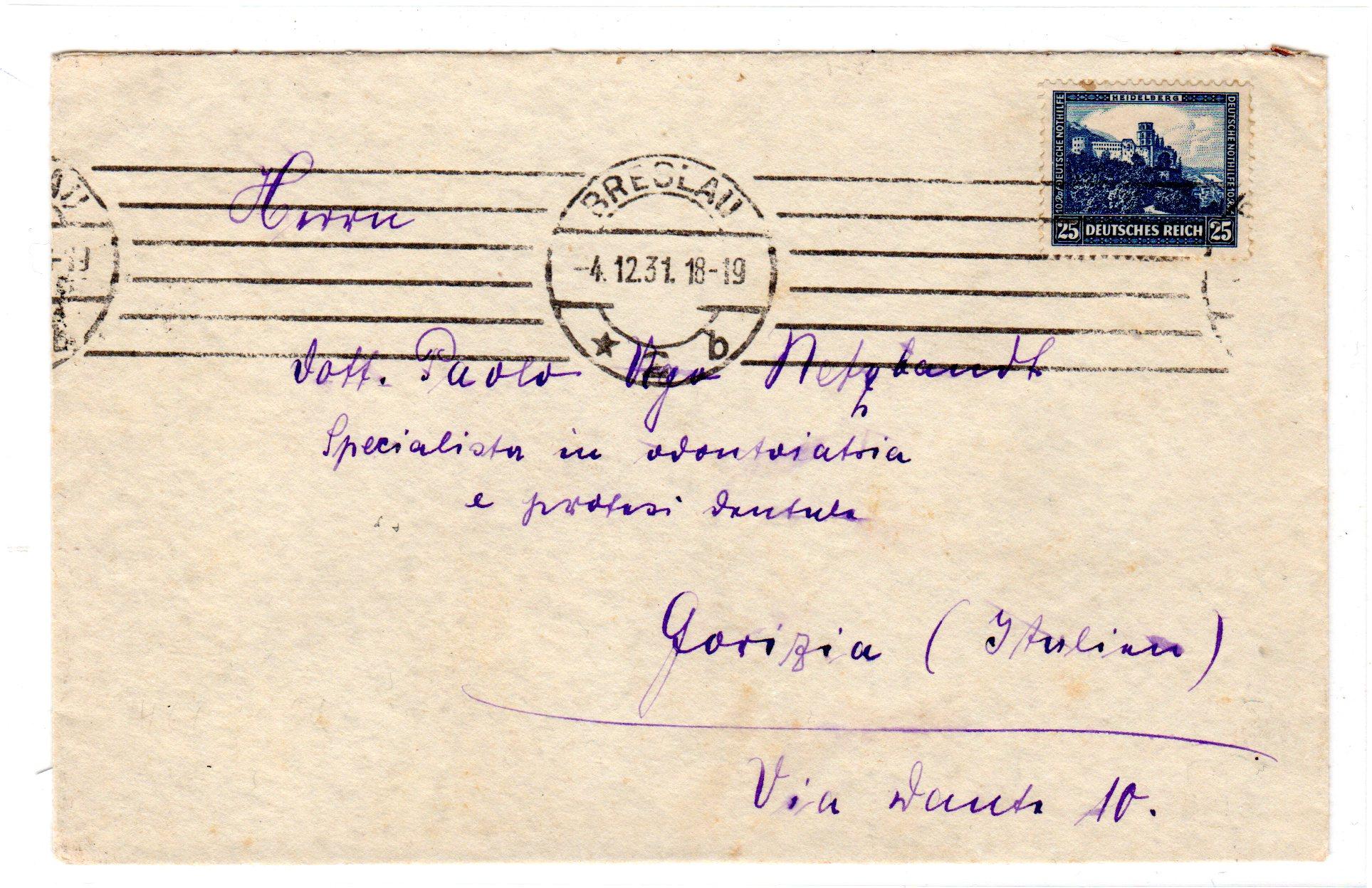 Briefe Nach Italien : Mi nr ef auf brief nach italien — marktplatz philatelie